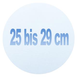 25 bis 29 cm