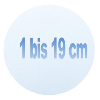 1 bis 19 cm