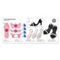 Lady Shoe Miniatur Set 5-teilig Minislipper
