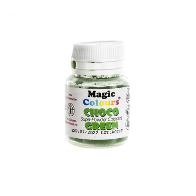 Magic Colours Supapowder Chocolate Colour Green GRÜN  10 ml  Schoko Pulverfarbe - 100 % reine Farbpigmente