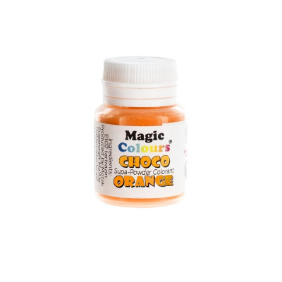 Magic Colours Supapowder Chocolate Colour  ORANGE  5 g Schoko Pulverfarbe - 100 % reine Farbpigmente