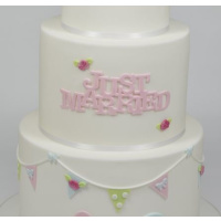 Just Married Ausstecher  -  fmm Curved Words