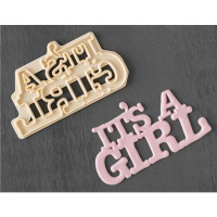 Its a Girl  Ausstecher  -  fmm Curved Words Baby...