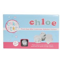 Cake Star Push MINI easy Cutter Set  - Kleinbuchstaben A...