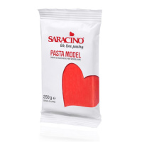 Saracino Pasta Model 250 g ROT Red Rosso  Modellliermasse