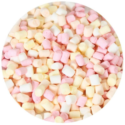 Mikro Marshmallows 50 g Dose von FunCakes Mix in Pastell - Rosa, Weiß, Lachs, Gelb