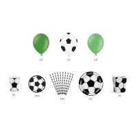 Fußball Party Set - Box of Decorations Football mix...